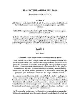 El Niño de las Pinturas | Skriftlig tentamen | Spansk 2