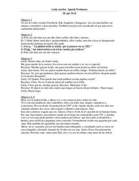 Las redes sociales | Skriftlig tentamen | Spansk 2