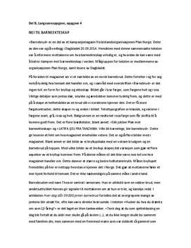 Eksempel på retorisk analyse av Barnebrud