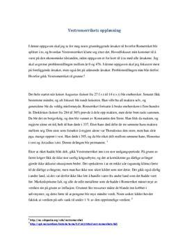 Vestromerrikets fall - økonomiske årsaker