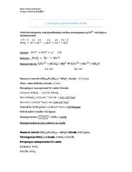 1.2 Analyse av jerninnholdet i salt | Oppgave | Kjemi 2