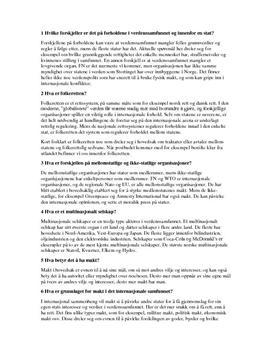 """Oppgaver til kapittel 12 """"Det internasjonale samfunnet"""""""