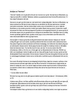 """""""Herman"""" av Lars Saabye Christensen   Analyse"""