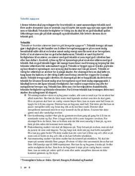 Teknikk i håndball | Arbeidskravsanalyse | Treningslære