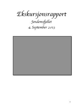 Jendemsfjellet | Ekskursjonsrapport