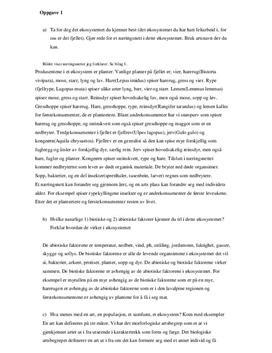 Oppgaver | Økosystemet i fjellet | Biologi 2