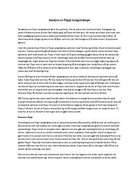 Analyse av Pippi Langstrømpe