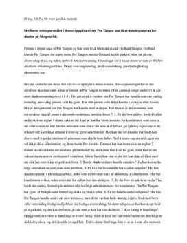 Øvelse 3.6.5 om Per Tangen og erstatning | Rettslære 2