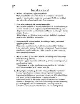 Tøm teksten s. 60 i Panorama Vg2