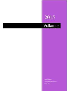 Vulkaner | Prosjektoppgave
