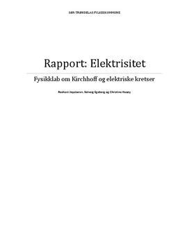 Ohms lov, Kirchhoffs spenningslov og strømlov | Rapport