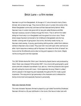 Brick Lane av Sarah Gavron | Filmanalyse