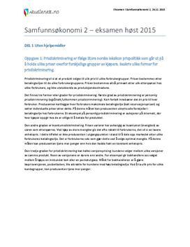 Prisdiskriminering | Vekst | Rentenivå | Eksamen i Samfunnsøkonomi 2 Høst 2015