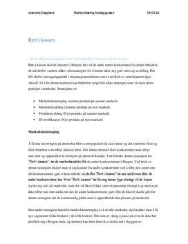 Rett i kassen   Ekspansjonsmatrise, konkurransemidler og personalet