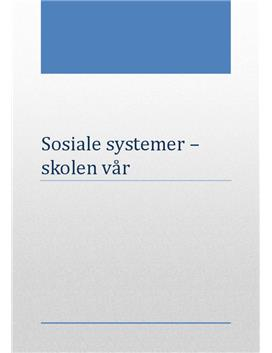 Sosiale systemer | Skolen