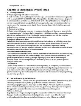 Kap. 9 og 10 i Bios 2 | Sammendrag