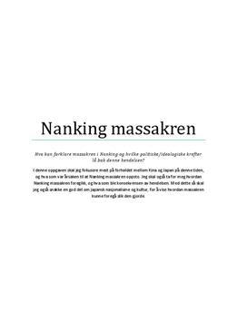 Nanking massakren | Prosjektoppgave