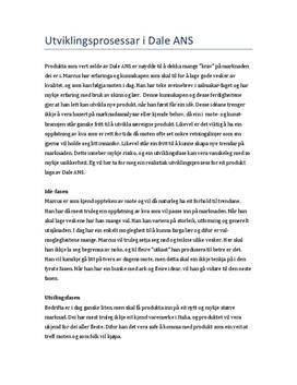 Dale ANS | Utviklingsprosesser