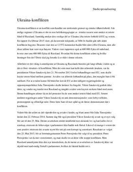Ukraina-konflikten | Årsaker og løsninger