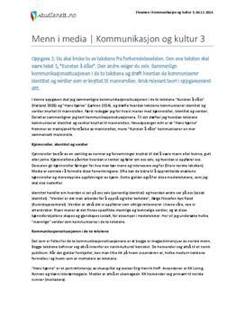 Menn i media   Kommunikasjon og kultur 3   Eksamen høst 2014