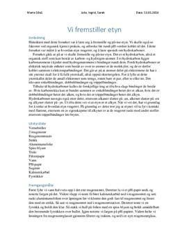 Vi lager hydrogengass konklusjon