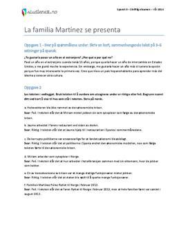 Spansk 2 eksamen | Vår 2014