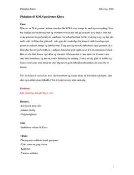 Kols | Pleieplan