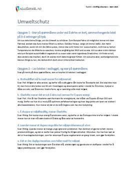 Umweltschutz | Tysk II | Høst 2015
