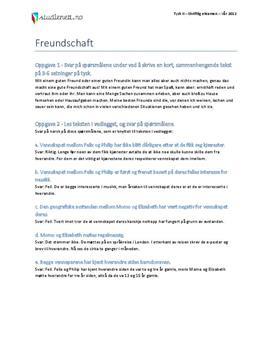 Freundschaft | Tysk II | Vår 2012