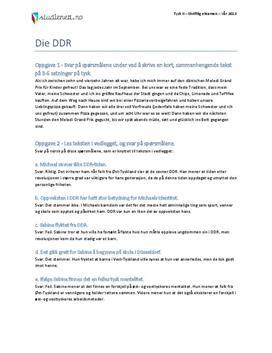 Die DDR | Tysk II | Vår 2013