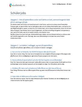 Schülerjobs | Tysk II | Vår 2014