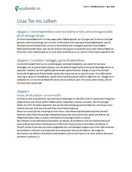 Liras Tor ins Leben | Tysk II | Høst 2010