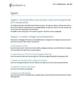 Sport | Tysk I | Høst 2015