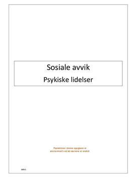 Sosiale avvik og psykiske lidelser | Kvalitativ undersøkelse