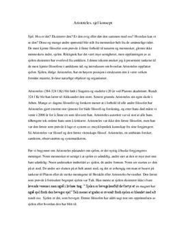 Aristoteles syn på sjelen | Temaoppgave