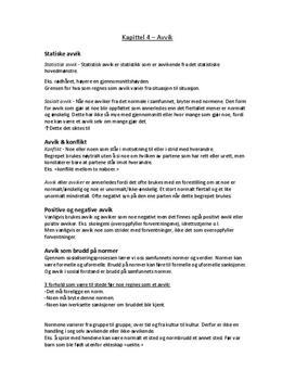 Kap. 4 | Avvik | Fokus - Menneske og samfunn | Sammendrag