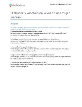 Spansk 3 eksamen | Høst 2014