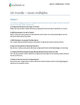 Spansk 3 eksamen | Vår 2014
