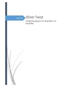 Oliver Twist - fra bok til film   Særemne