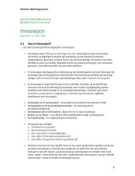 Kap. 2 Innovasjon i Innovasjon og internasjonalisering | Sammendrag