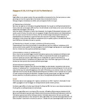 Oppgave 3.5.8, 3.5.9 og 3.5.11 i Rettslære 2   Oppgaver fra læreboka