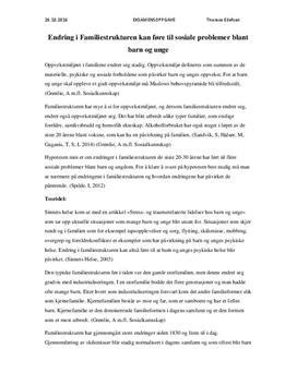 Familiestruktur og sosiale problemer blant barn og unge | Artikkel