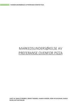 Pizza-preferanser og vaner | Markedsundersøkelse