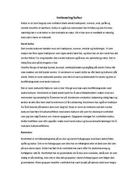 Sammenligning av romkultur og norsk kultur