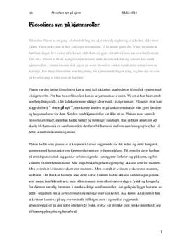 Filosofiens syn på kjønn og kjønnsroller | Artikkel