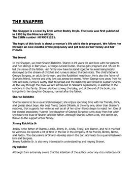 The Snapper | Book Report