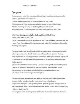 Erstatningsrett, avtalerett og forvaltningsrett | Rettslære 2 | Høst 2016
