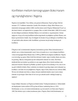 Konflikten mellom Boko Haram og myndighetene i Nigeria