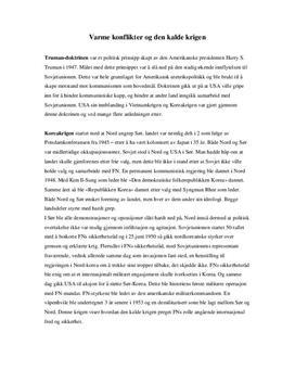 Varme konflikter under den kalde krigen | Sammendrag