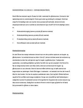 Ekspansjonsmatrisen av Eikeli Gård   Caserapport